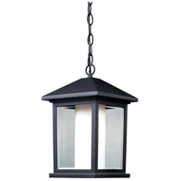Z-Lite 523CHM Mesa 1 Light 8 inch Black Outdoor Chain Mount Ceiling Fixture