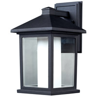 Mesa 1 Light 14 inch Black Outdoor Wall Light