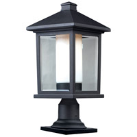 Z-Lite Mesa 1 Light Outdoor Pier Mount Light in Black 523PHB-533PM-BK
