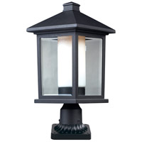Z-Lite 523PHB-PM Mesa 1 Light 22 inch Black Outdoor Pier Mounted Fixture