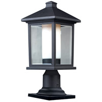 Z-Lite Mesa 1 Light Outdoor Pier Mount Light in Black 523PHM-533PM-BK