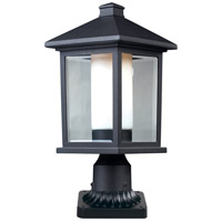 Z-Lite Mesa 1 Light Post Light in Black 523PHM-PM