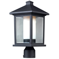 Mesa 1 Light 16 inch Black Outdoor Post