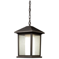 Z-Lite 524CHM Mesa 1 Light 8 inch Oil Rubbed Bronze Outdoor Chain Mount Ceiling Fixture