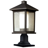Z-Lite 524PHB-533PM-ORB Mesa 1 Light 20 inch Oil Rubbed Bronze Outdoor Pier Mounted Fixture