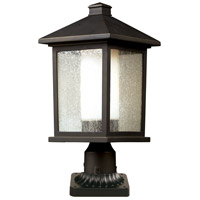 Z-Lite 524PHB-PM Mesa 1 Light 22 inch Oil Rubbed Bronze Outdoor Pier Mounted Fixture in 22.00