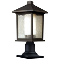 Z-Lite Mesa 1 Light Outdoor Pier Mount Light in Oil Rubbed Bronze 524PHM-533PM-ORB