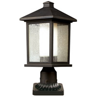 Z-Lite 524PHM-PM Mesa 1 Light 19 inch Oil Rubbed Bronze Outdoor Pier Mounted Fixture