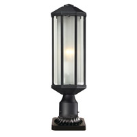 Cylex 1 Light 22 inch Black Outdoor Pier Mount