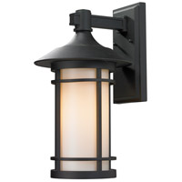 Z-Lite Woodland 1 Light Outdoor Wall Light in Black 527B-BK