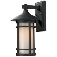 Woodland 1 Light 15 inch Black Outdoor Wall Sconce