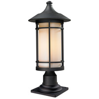 Woodland 1 Light 22 inch Black Outdoor Pier Mounted Fixture