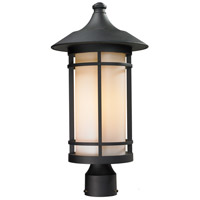 Z-Lite Woodland 1 Light Outdoor Post Light in Black 527PHB-BK