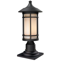Z-Lite 527PHM-533PM-BK Woodland 1 Light 18 inch Black Outdoor Pier Mount