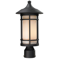 Z-Lite 527PHM-BK Woodland 1 Light 17 inch Black Outdoor Post Mount Fixture