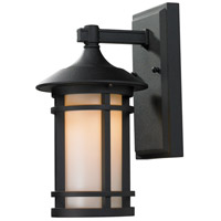 Woodland 1 Light 11 inch Black Outdoor Wall Sconce