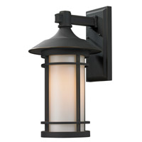 Z-Lite Woodland 1 Light Outdoor Wall Light in Oil Rubbed Bronze 528B-ORB