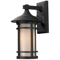 Z-Lite 528M-ORB Woodland 1 Light 15 inch Oil Rubbed Bronze Outdoor Wall Sconce