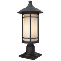 Z-Lite 528PHB-533PM-ORB Woodland 1 Light 22 inch Oil Rubbed Bronze Outdoor Pier Mount