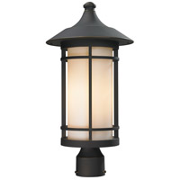 Z-Lite 528PHB-ORB Woodland 1 Light 21 inch Oil Rubbed Bronze Post Mount Light