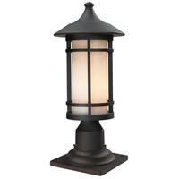 Z-Lite 528PHM-533PM-ORB Woodland 1 Light 18 inch Oil Rubbed Bronze Outdoor Pier Mount