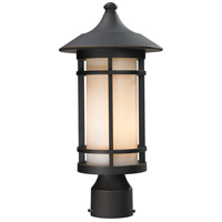 Z-Lite 528PHM-ORB Woodland 1 Light 17 inch Oil Rubbed Bronze Post Mount Light