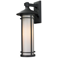 Black Aluminum Woodland Outdoor Wall Lights