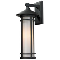 Z-Lite Woodland 1 Light Outdoor Wall Light in Black 529M-BK