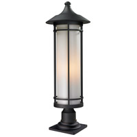 Z-Lite 529PHB-533PM-BK Woodland 1 Light 30 inch Black Outdoor Pier Mount