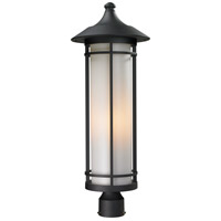 Z-Lite 529PHB-BK Woodland 1 Light 28 inch Black Outdoor Post