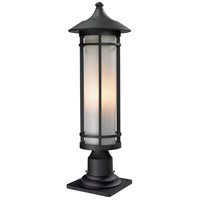 Z-Lite Woodland 1 Light Outdoor Pier Mount Light in Black 529PHM-533PM-BK
