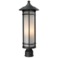 Z-Lite 529PHM-BK Woodland 1 Light 22 inch Black Outdoor Post Mount Fixture