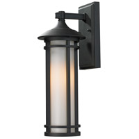Z-Lite Woodland 1 Light Outdoor Wall Light in Black 529S-BK