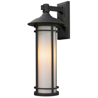 Z-Lite 530B-ORB Woodland 1 Light 26 inch Oil Rubbed Bronze Outdoor Wall Sconce