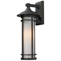 Z-Lite Woodland 1 Light Outdoor Wall Light in Oil Rubbed Bronze 530M-ORB