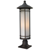 Z-Lite 530PHB-533PM-ORB Woodland 1 Light 30 inch Oil Rubbed Bronze Outdoor Pier Mount
