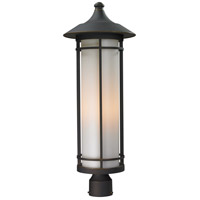 Z-Lite 530PHB-ORB Woodland 1 Light 28 inch Oil Rubbed Bronze Post Mount Light