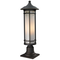 Z-Lite 530PHM-533PM-ORB Woodland 1 Light 24 inch Oil Rubbed Bronze Outdoor Pier Mount