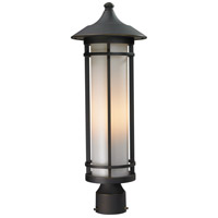 Z-Lite 530PHM-ORB Woodland 1 Light 22 inch Oil Rubbed Bronze Post Mount Light