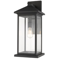 Z-Lite 531BXL-BK Portland 1 Light 22 inch Black Outdoor Wall Sconce