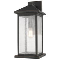 Z-Lite 531BXL-ORB Portland 1 Light 22 inch Oil Rubbed Bronze Outdoor Wall Sconce