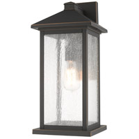 Z-Lite 531MXL-ORB Portland 1 Light 18 inch Oil Rubbed Bronze Outdoor Wall Sconce