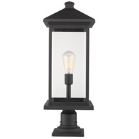 Z-Lite 531PHBXLR-533PM-BK Portland 1 Light 26 inch Black Outdoor Pier Mounted Fixture