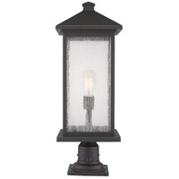 Z-Lite 531PHBXLR-533PM-ORB Portland 1 Light 26 inch Oil Rubbed Bronze Outdoor Pier Mounted Fixture