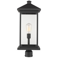 Portland 1 Light 24 inch Black Outdoor Post Mount