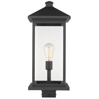 Z-Lite 531PHBXLS-BK Portland 1 Light 23 inch Black Outdoor Post Mount Fixture in Clear Beveled Glass 12