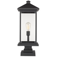 Portland 1 Light 25 inch Black Outdoor Pier Mount