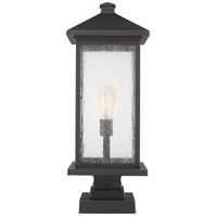 Portland 1 Light 25 inch Oil Rubbed Bronze Outdoor Pier Mount