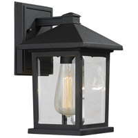 Z-Lite Portland 1 Light Outdoor Wall Light in Black 531S-BK