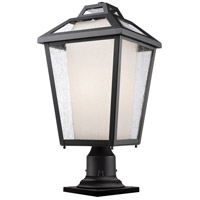 Z-Lite 532PHBR-533PM-BK Memphis Outdoor 1 Light 22 inch Black Outdoor Pier Mounted Fixture